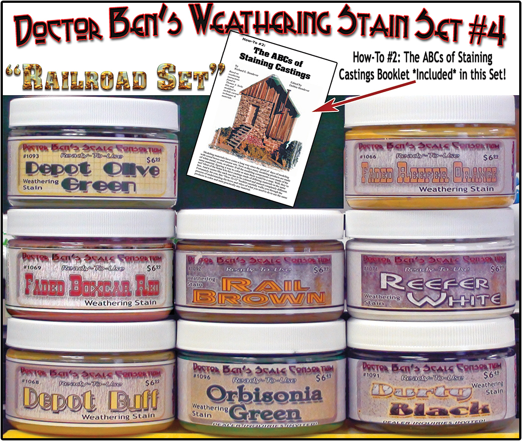 Doctor Ben's 8-Color Wood Stain Set #4