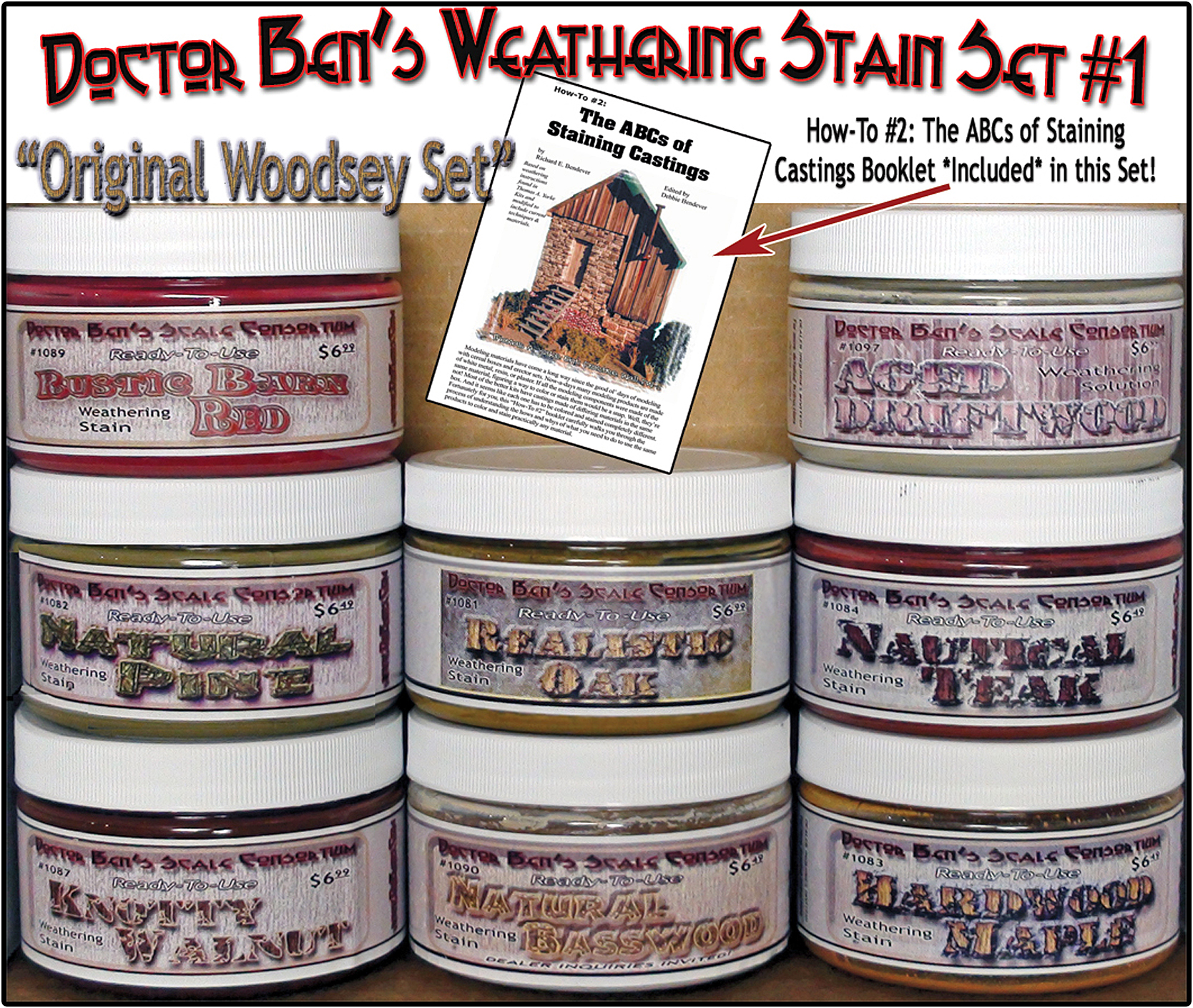Doctor Ben's 8-Color Wood Stain Set #1