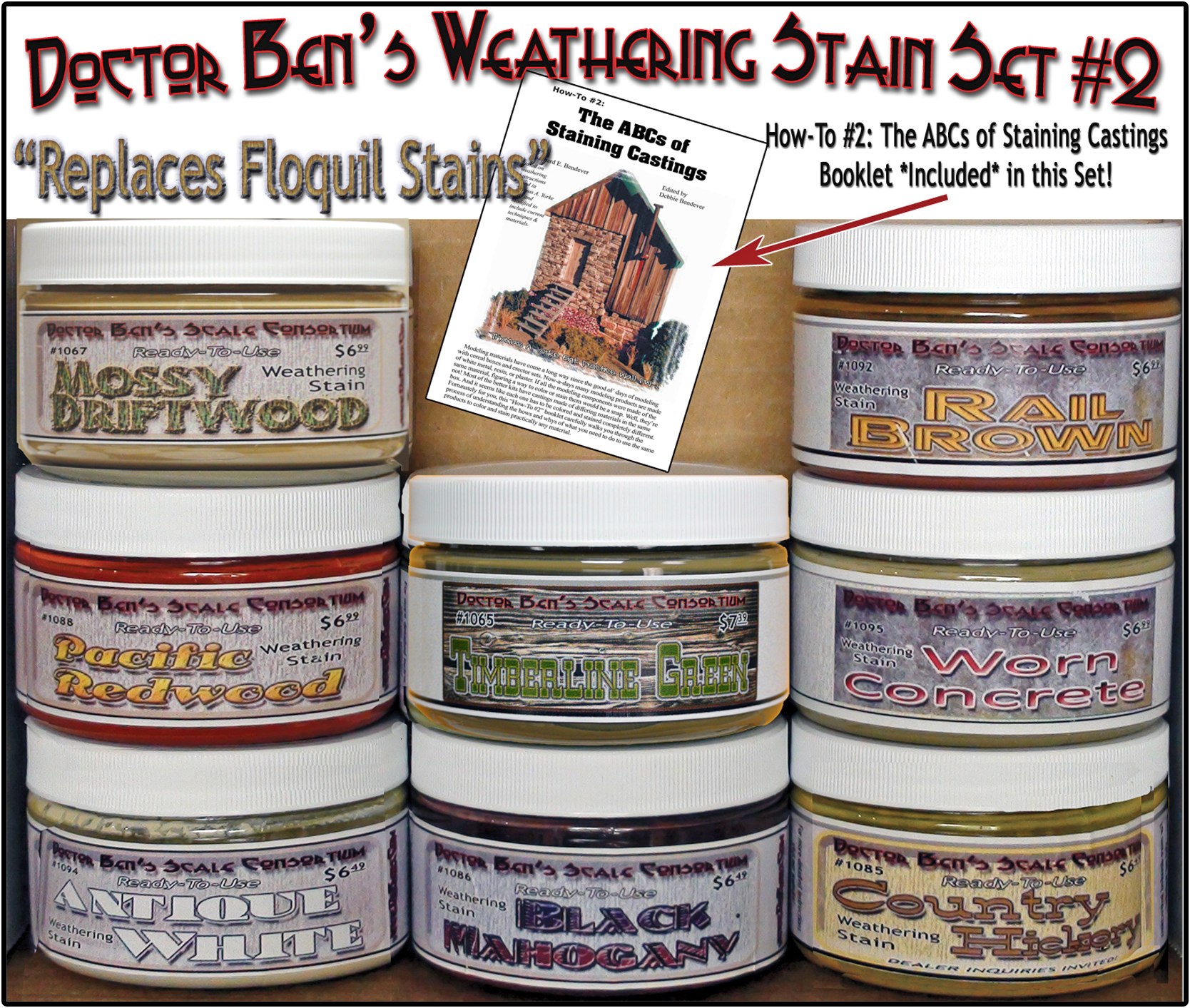 Doctor Ben's 8-Color Wood Stain Set #2