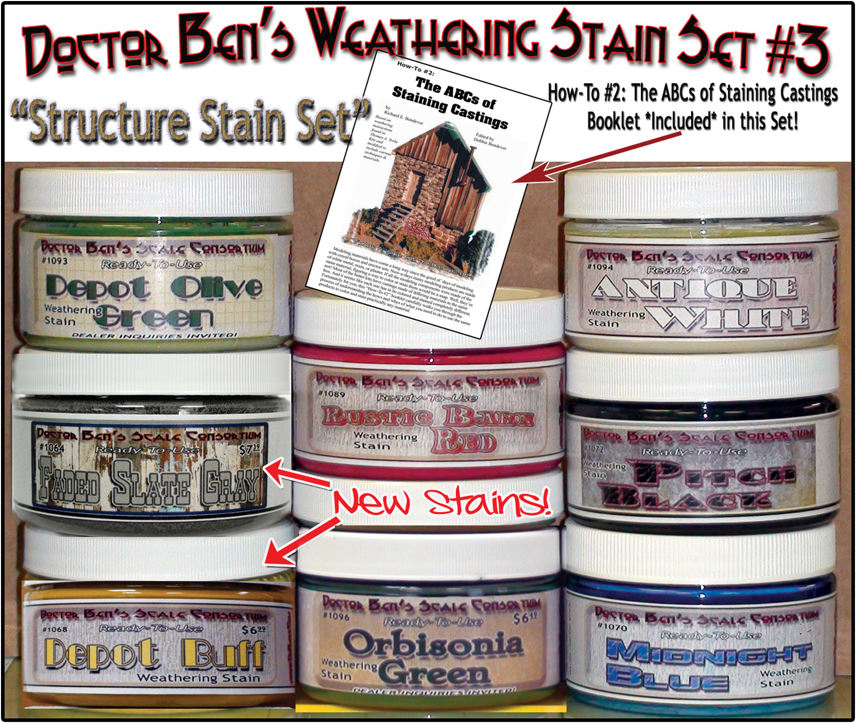 Doctor Ben's 8-Color Wood Stain Set #3