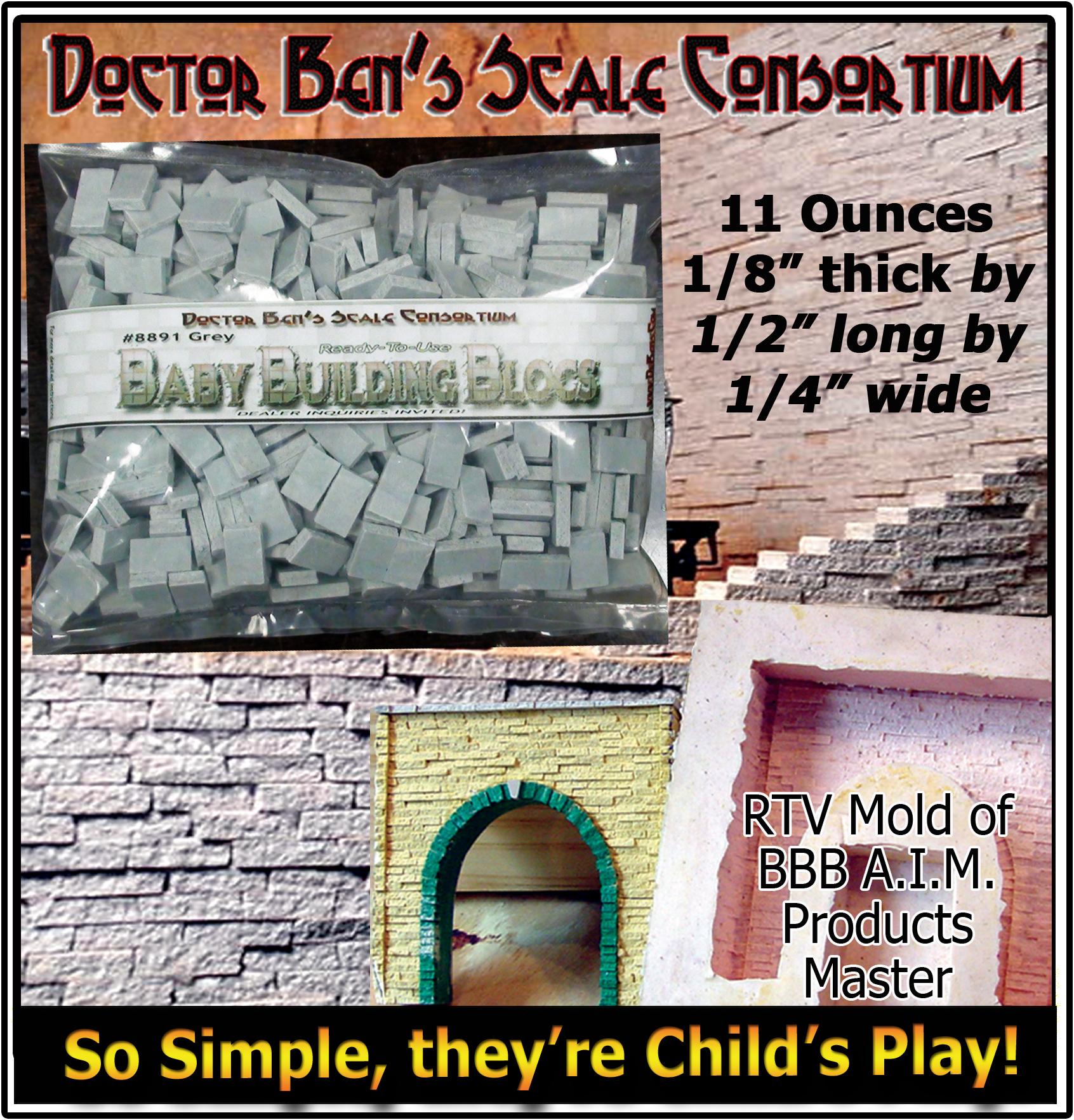 Doctor Ben's Baby Building Blocs Split Granite Textures